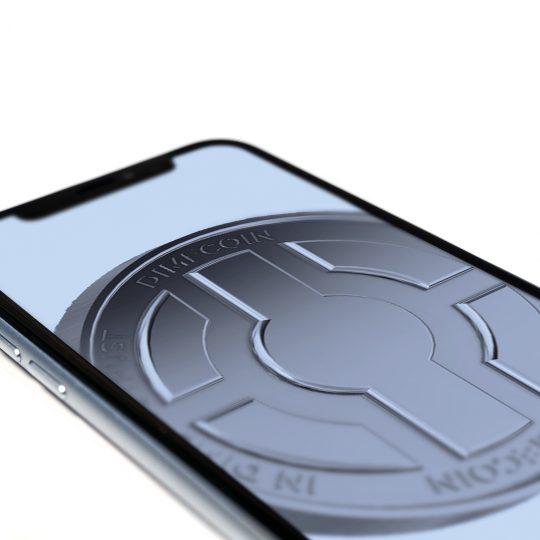 Coin mock phone